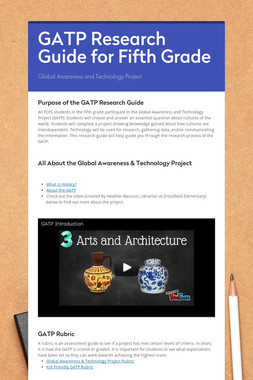 GATP Research Guide for Fifth Grade