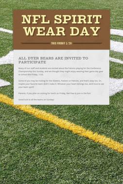 NFL Spirit Wear Day