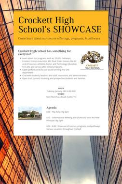Crockett High School's SHOWCASE