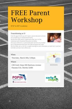 FREE Parent Workshop