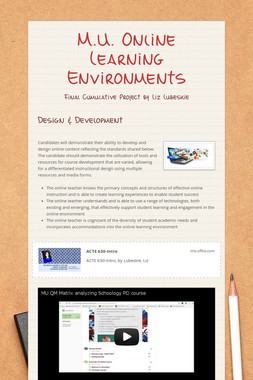 M.U. Online Learning Environments