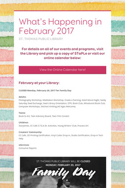 What's Happening in February 2017