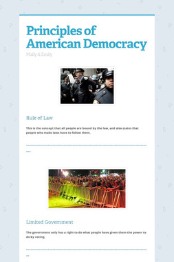 Principles of American Democracy