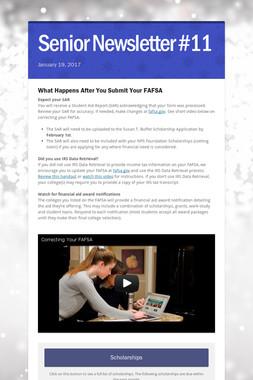 Senior Newsletter #11