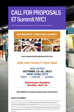 CALL FOR PROPOSALS ET Summit NYC!