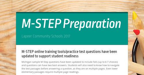 M-STEP Preparation | Smore