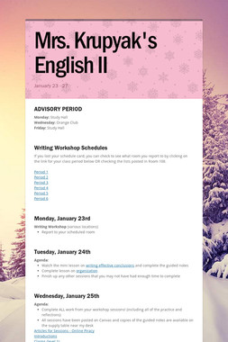 Mrs. Krupyak's English II