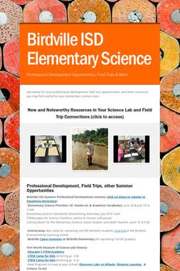 Birdville ISD Elementary Science