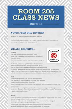 Room 205 Class News