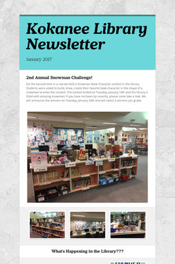 Kokanee Library Newsletter