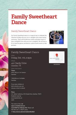 Family Sweetheart Dance