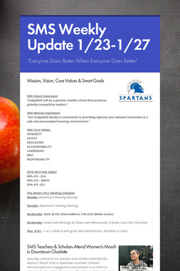 SMS Weekly Update 1/23-1/27