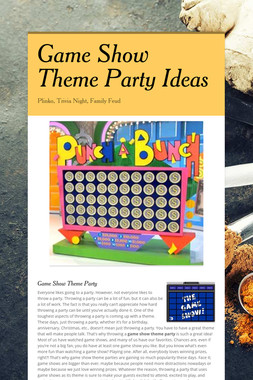 Game Show Theme Party Ideas