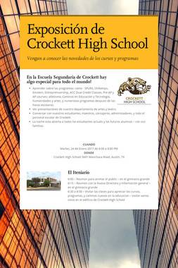 Exposición de Crockett High School