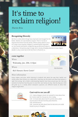It's time to reclaim religion!