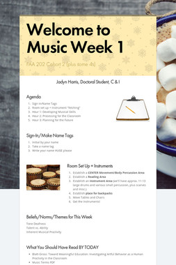 Welcome to Music Week 1