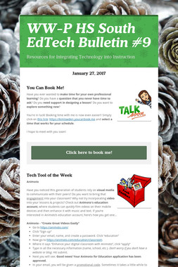 WW-P HS South EdTech Bulletin #9
