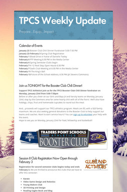 TPCS Weekly Update