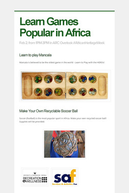 Learn Games Popular in Africa