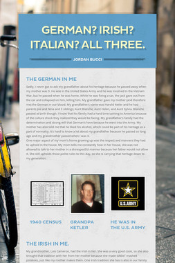 German? Irish? Italian? All three.
