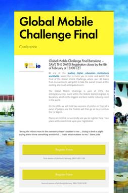 Global Mobile Challenge Final