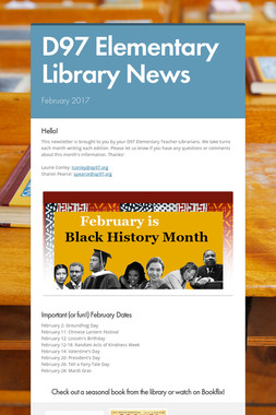 D97 Elementary Library News