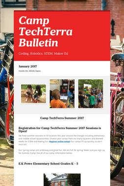 Camp TechTerra Bulletin