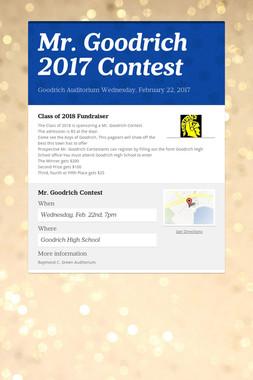 Mr. Goodrich 2017 Contest