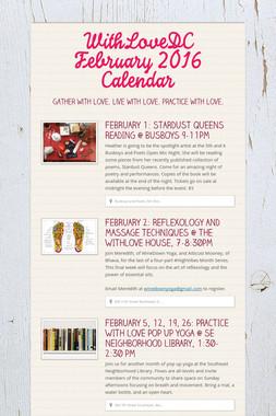 WithLoveDC February 2016 Calendar