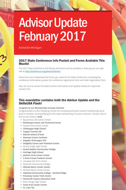 Advisor Update February 2017