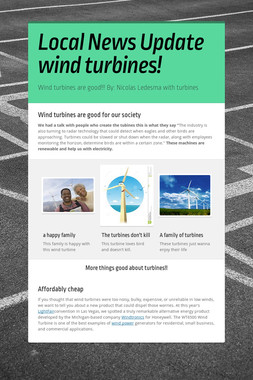 Local News Update wind turbines!