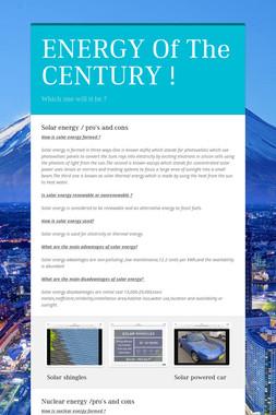 ENERGY Of The CENTURY !