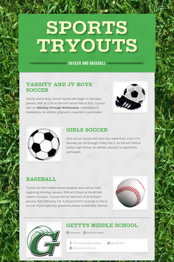 Sports Tryouts
