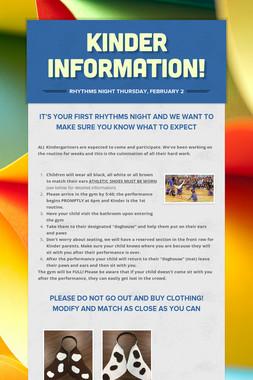Kinder information!