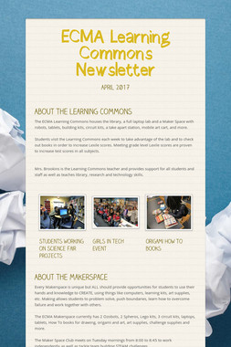 ECMA Learning Commons Newsletter