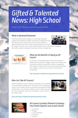 Gifted & Talented News: High School