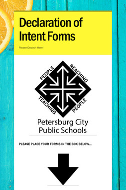 Declaration of Intent Forms