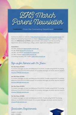 BHS March Parent Newsletter