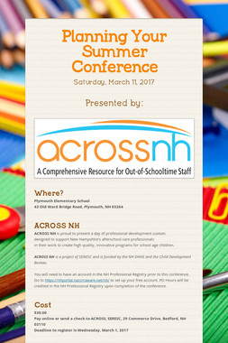 Planning Your Summer Conference