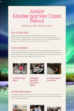 Junior Kindergarten Class News