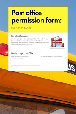 Post office permission form:
