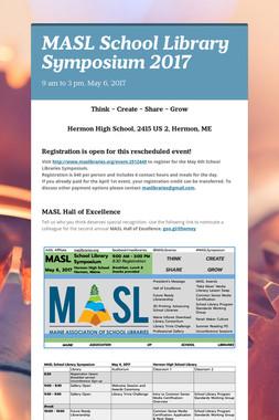 MASL School Library Symposium 2017