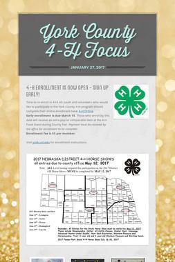 York County 4-H Focus