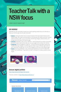 Teacher Talk with a NSW focus