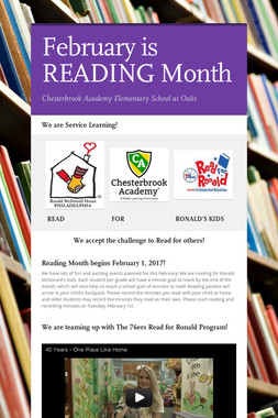 February is READING Month