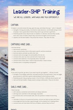Leader-SHIP Training