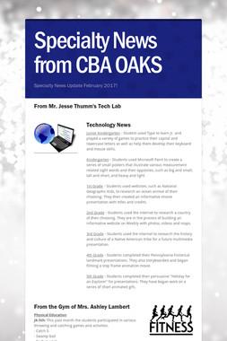 Specialty News from CBA OAKS
