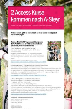 2 Access Kurse kommen nach A-Steyr