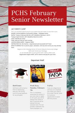 PCHS February Senior Newsletter