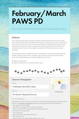 February/March PAWS PD